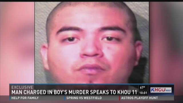 Man charged in boy's murder speaks from jail