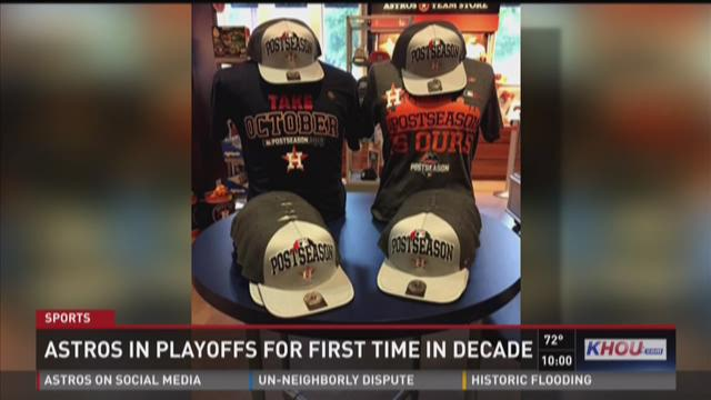 Postseason merchandise selling fast as Astros make it to playoffs
