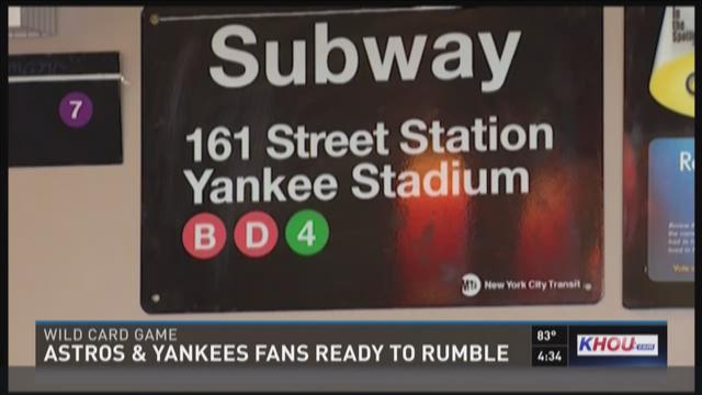 Astros %26 Yankees fans ready rumble