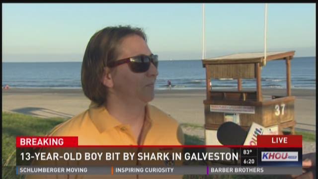 13-year-old bitten by shark in Galveston
