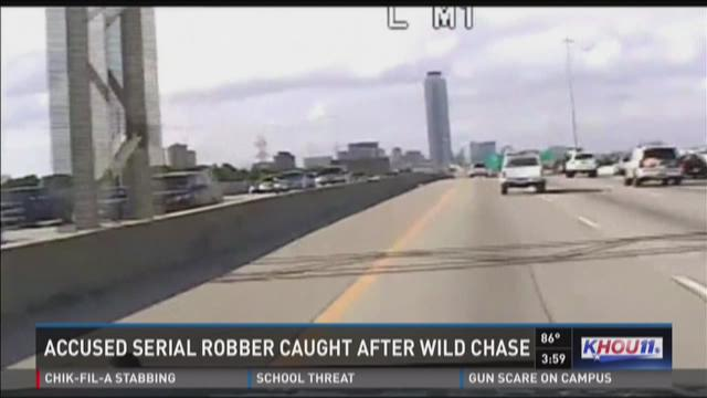 Chase leads to 'professional bank robber' wanted in 6 states