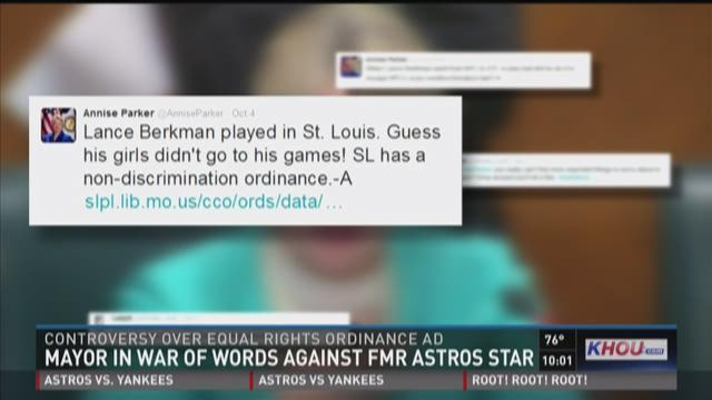 Mayor in war of words against former Astros star