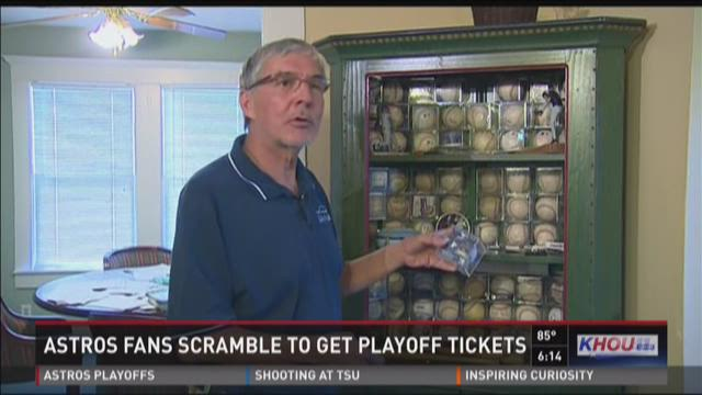 Astros fans scramble to get playoff tickets