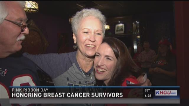 Breast cancer survivors tickled pink by Texans