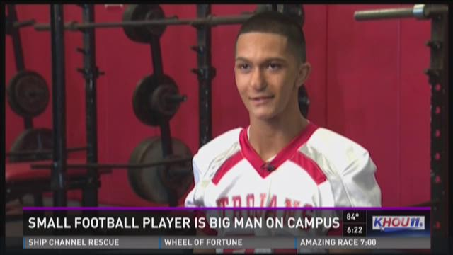 Small football player is big man on campus