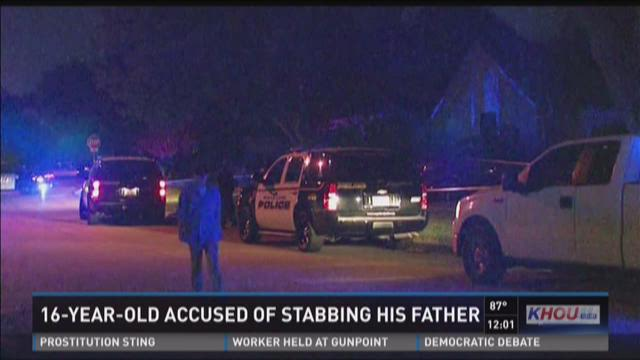 16-year-old accused of stabbing father