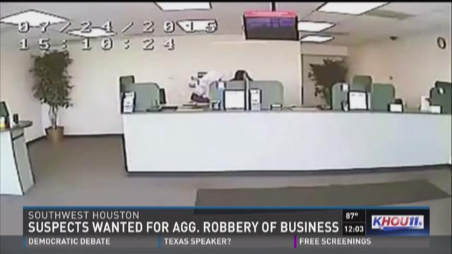 Suspects wanted for aggravated robbery of business