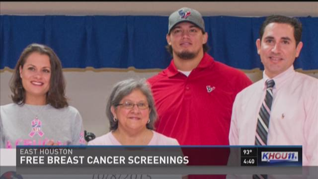 Houstonians get free mammograms thanks to the NFL