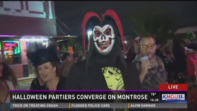 hundreds show off halloween costumes at montrose crawl