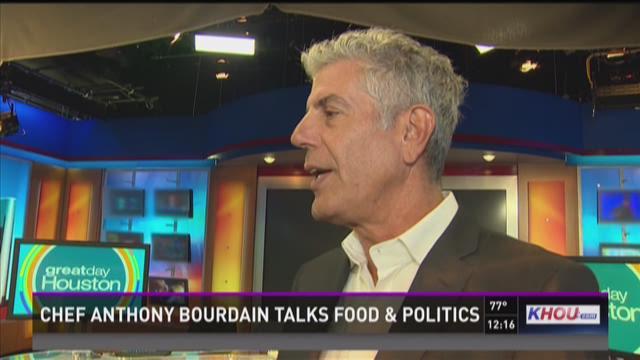 Chef Anthony Bourdain talks food and politics