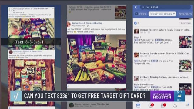Verify Can You Text To Get A Free Target Gift Card Khou Com