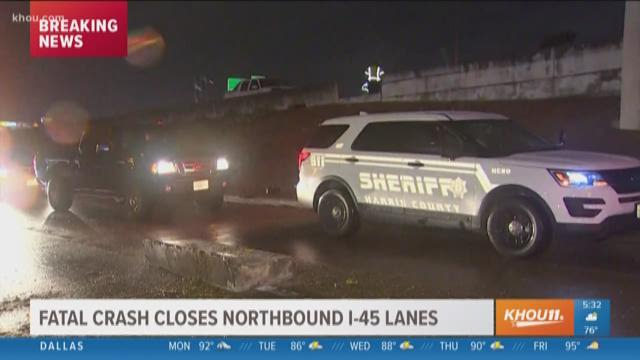 I-45 North shut down after person hit by multiple cars, killed