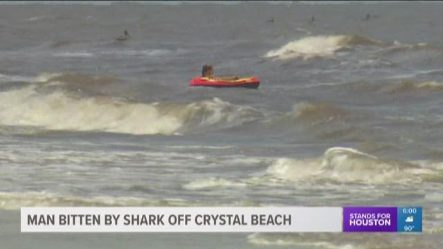Man attacked by shark off Crystal Beach